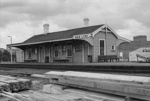 Photograph of New Lynn railway station; Les Downey; 1972-1976; 14-2181