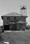 Photograph of Pukekohe fire station; Les Downey; 1973; 14-1738