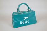 Airline Bag [BOAC]; British Overseas Airways Corporation (England, estab. 1939, closed 1974); 2011.354