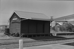 Photograph of goods shed, Kaipara Flats station; Les Downey; 1972-1976; 14-1002