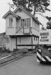Photograph of signal box at MOTAT; Les Downey; 1972-1976; 14-1433