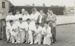 [Dunedin tramway cricket team at Laughlan Cup]; Unknown Photographer; Feb 1948; 14-0842