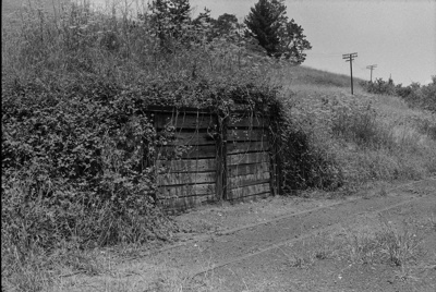 Photograph of ballast loading area, Hoteo station; Les Downey; 1972-1976; 14-1007