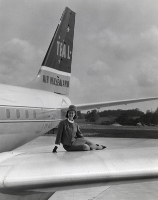 Air New Zealand promotional photograph; Unknown Photographer; 1966; 14-6417