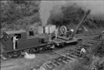 Photograph of BTC locomotive and winch crane; Les Downey; 1972-1976; 14-1793
