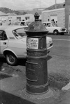Photograph of cast-iron letter box; Les Downey; 1972-1976; 14-2145
