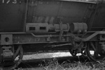 Photograph of ballast wagon YB 173; Les Downey; 1972; 14-3413
