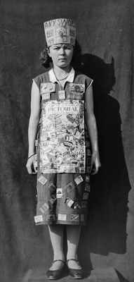 Young girl dressed in costume; Unidentified; 1933; 13-2216