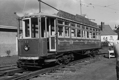 Photograph of tram No. 11 at MOTAT; Les Downey; 1974; 14-1568