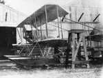 New Zealand Flying School, Caudron flying boat at Kohimarama; Unidentified; 10-0984