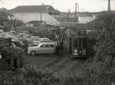 Trams serving Eden Park; Graham C. Stewart (b.1932); 08/092/269
