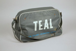 Airline Bag [Teal]; Tasman Empire Airways Limited (New Zealand, estab. 1940, closed 1965), Duffy Electronics Private Limited (Australia, estab. Circa 1947), Deco Plastics; 2013.331