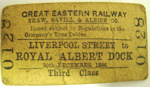 Railway Ticket [Great Eastern Railway]; 1886; 1981.347