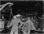 An automobile collision; Unidentified; 1930s; 13-2022