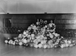 Preparations for celebration in hall; Unidentified; 1930s; 13-2166