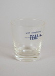 Water Glass [Teal]; Tasman Empire Airways Limited (New Zealand, estab. 1940, closed 1965); 2004.350