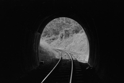 Photograph of Huarau tunnel portal; Les Downey; 1972-1976; 14-1018