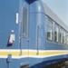 Photograph of Blue Streak railcar; Les Downey; 1985?; 14-4800
