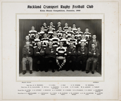 Auckland Transport Rugby Football Club; Franz Studio; 1948; 15-2979