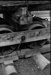 Photograph of bogie and wooden wheels for log wagon; Les Downey; 1973; 14-2370