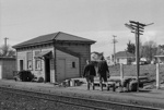 Photograph of Waitakere station building; Les Downey; 1973; 14-1357