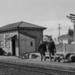 Photograph of Waitakere station building; Les Downey; 1973; 14-1357