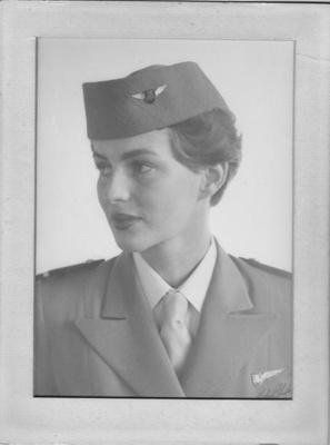 Image showing stewardess Mary Best, courtesy of Best family.