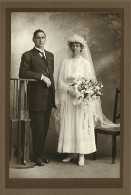 Photograph of a bride  and groom; Unidentified; 13-1180