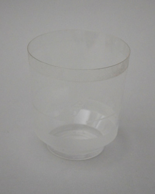 Drinking Glass [Air New Zealand]; Air New Zealand Limited (New Zealand, estab. 1965), TransWorld Plastics Limited (estab. 1960, closed 1990); 2016.4.84