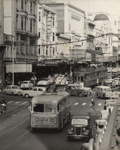 [Queen Street showing trolley bus, trams, and vehicles]; Unknown Photographer; [1940s-1950s]; PHO-2017-5.15