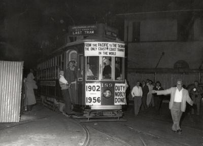Last tram to Onehunga, 1956; Graham C. Stewart (b.1932); 1956; 08/092/152
