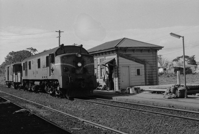 Photograph of Waitakere station; Les Downey; 1973; 14-1359