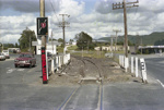Photograph of approach to Kawakawa railway station; Les Downey; 1985?; 14-4280