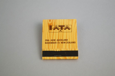Matchbook [IATA 29th AGM Auckland November 1973]; International Air Transport Association (Cuba, estab. 1945), Allenco Match; 1973; 2003.144.3