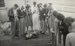 [Auckland tramway cricket players and supporters at Laughlan Cup]; Unknown Photographer; Feb 1948; 14-0839