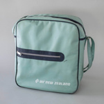 Airline Bag [Air New Zealand]; Air New Zealand Limited (New Zealand, estab. 1965), Precision Metal Products PvT Ltd (estab. 1975); 2016.16