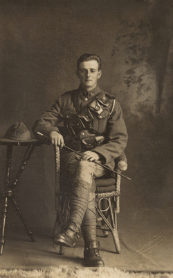Photograph of a soldier; Adam Maclay; 13-1077