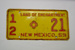Vehicle Number Plate [New Mexico]; 1959; 1966.487.12