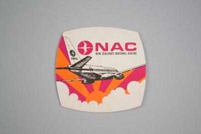 Coaster [National Airways Corporation]; National Airways Corporation (New Zealand, estab. 1947, closed 1978); 2016.183.1