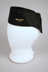 Uniform Cap [Teal Stewardess]; The Hat Factory, Tasman Empire Airways Limited (New Zealand, estab. 1940, closed 1965); 2004.434