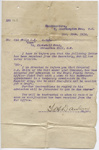 C.K. Mills Collection: Letter; Major Dawson; 13 December 1916; 14/004/001