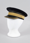 Uniform Hat [Station Master's cap]; New Zealand Rail, Kaiapoi Woollen Manufacturing Company Limited (New Zealand, estab. 1878, closed 1978); 2014.347