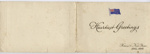 C.K. Mills Collection: Greeting Card; Charles K. Mills; 17 November 1915; 14/004/017