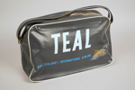Airline Bag [Teal]; Tasman Empire Airways Limited (New Zealand, estab. 1940, closed 1965); 2013.330