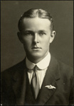 Black and white studio portrait of Arthur Dymock Morris (?); Circa 1918; 04/071/006