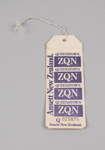 Baggage Tag [Ansett New Zealand]; Ansett New Zealand (estab. 1987, closed 2001); 2016.174.6
