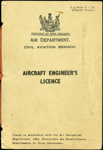 Aircraft Engineer's Certificate; New Zealand. Air Department; 1947; 04/077/128