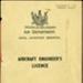 Aircraft Engineer's Certificate; New Zealand. Air Department; 1947; 04/077/128