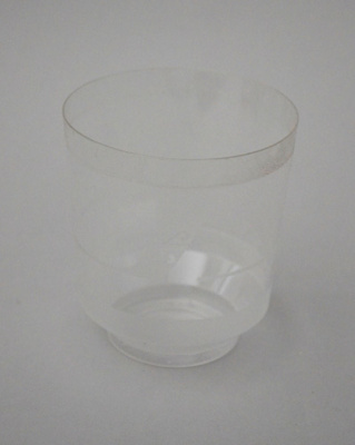 Drinking Glass [Air New Zealand]; Air New Zealand Limited (New Zealand, estab. 1965), TransWorld Plastics Limited (estab. 1960, closed 1990); 2016.4.87