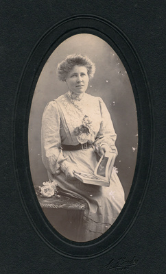 Portrait photograph of young woman; A. Hardy; 13-1045